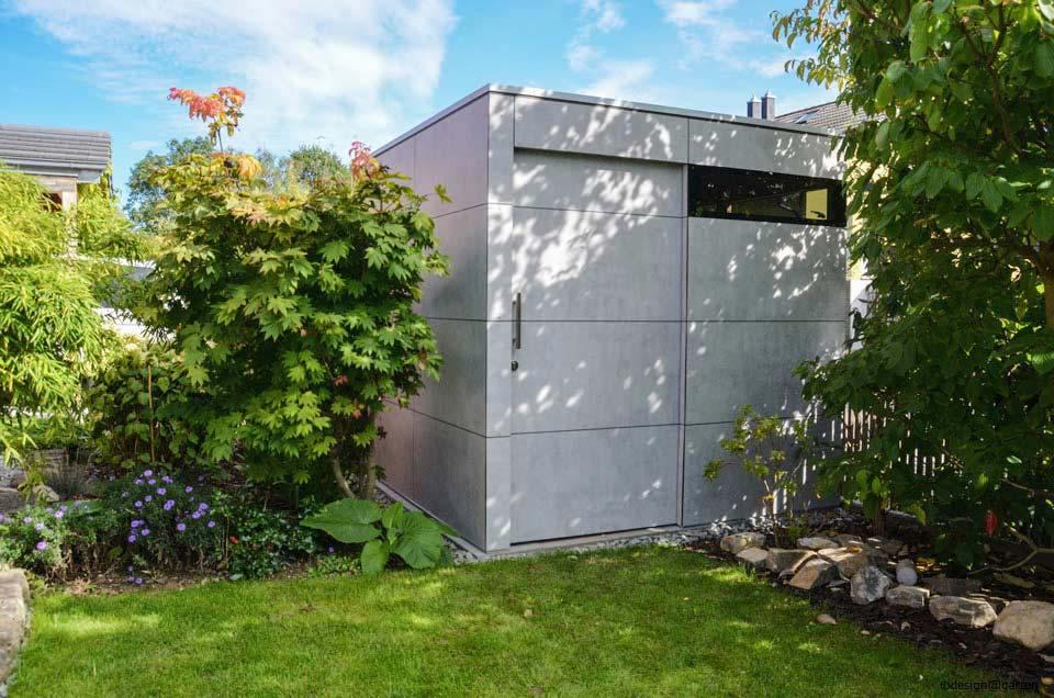 Design Gartenhaus: wetterfest, pflegeleicht & konfigurierbar