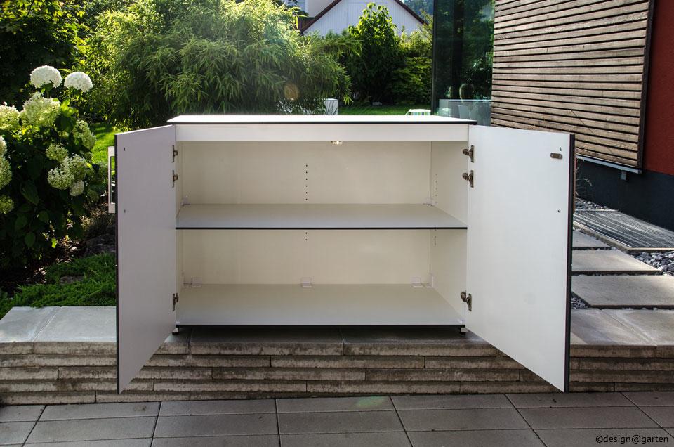 wetterfester gartenschrank f r terrasse oder balkon. Black Bedroom Furniture Sets. Home Design Ideas