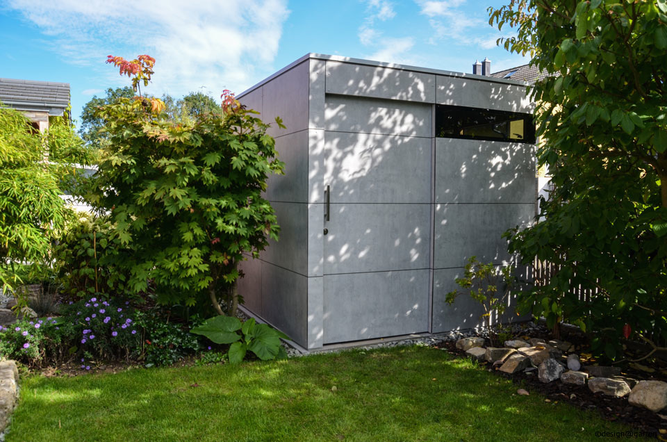 Gartenhaus in beton optik design garten - Gartenhaus aus beton ...